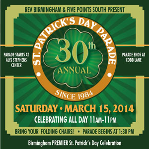30th Annual St. Patrick's Day Parde in Birmingham, Alabama